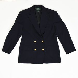 Ralph Lauren Regular 12P Blue   Blazer Wool Solid